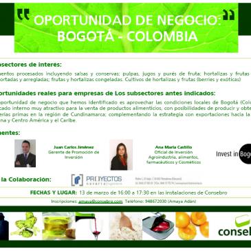 PROYECTOS NAVARRA realiza networking sobre Colombia en Consebro