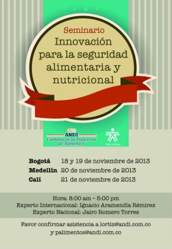 PROYECTOS NAVARRA impartirá Seminario Innovación en sector de alimentos en Colombia